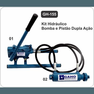 GH 155 kit hidráulico pistão dupla ação