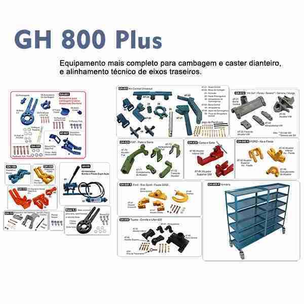GH 800 Plus equipamento para correção de cambagem e caster dianteiro e alinhamento técnico eixos traseiros