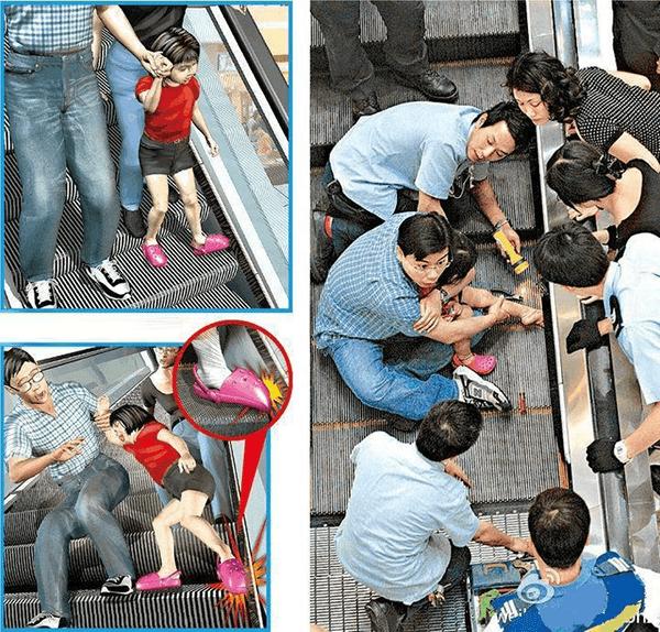 Quais são os perigos da escada rolante?