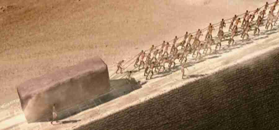 O elevador nas pirâmides do Egito