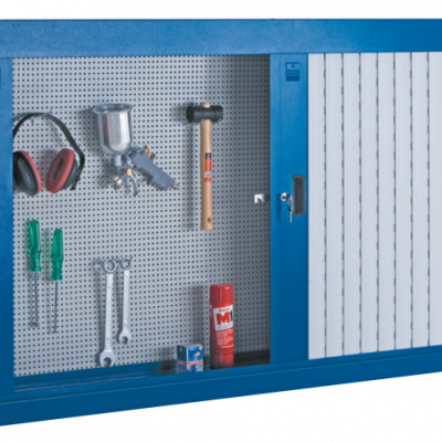 Armário de aço com portas e persiana em PVC 216