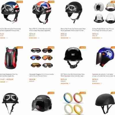 capacetes de motociclistas retro